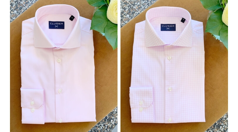 LUSIER shirts pink & pink gingham